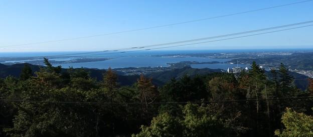 富幕山山頂展望デッキより浜名湖「今切、いまぎれ」方面