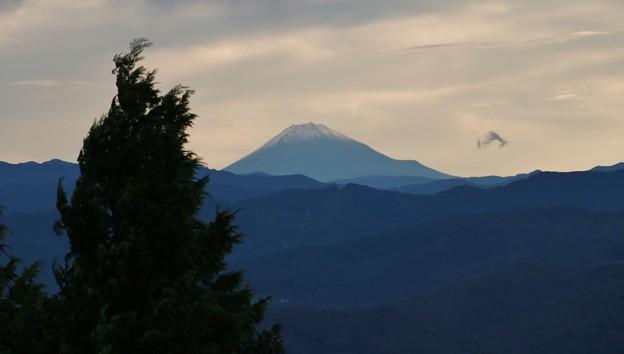 Photos: 昨日の雨が富士山では雪になったようです。