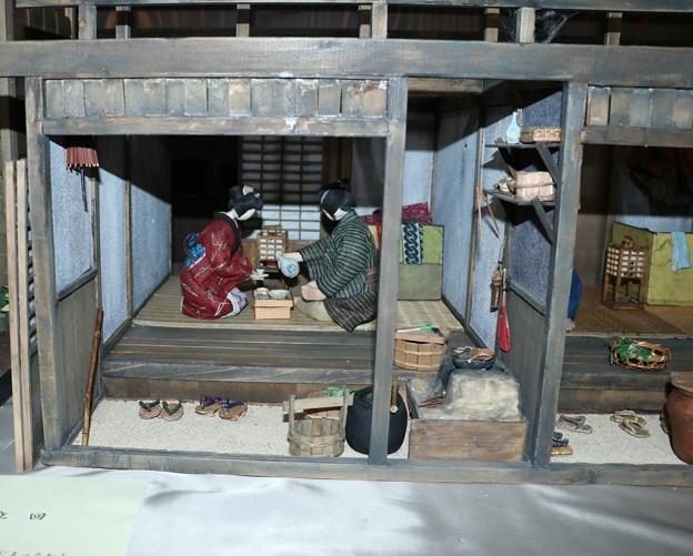 天竜産業観光まつり棟割長屋創作和紙人形