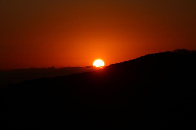 富幕山から今朝の日の出
