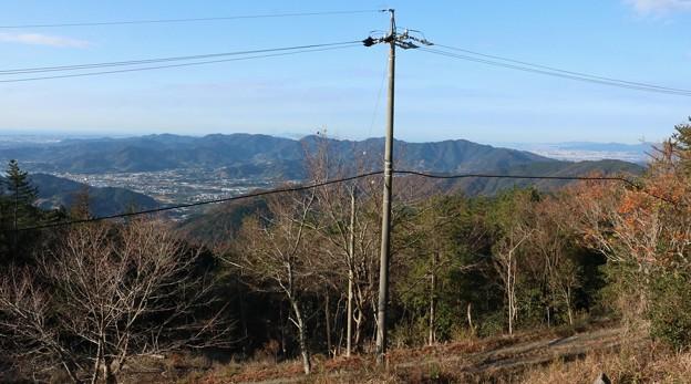 富幕山休憩舎デッキより湖西連峰方面