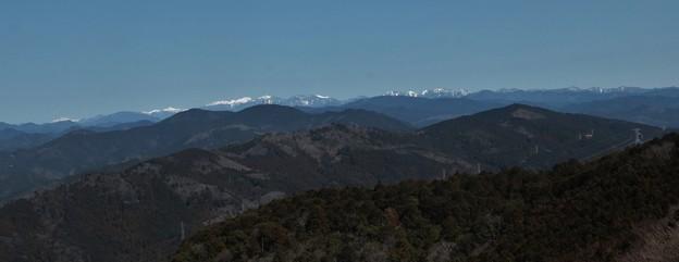 富幕山より南アルプス深南部、聖岳、赤石岳、荒川岳、塩見岳、仙丈岳、