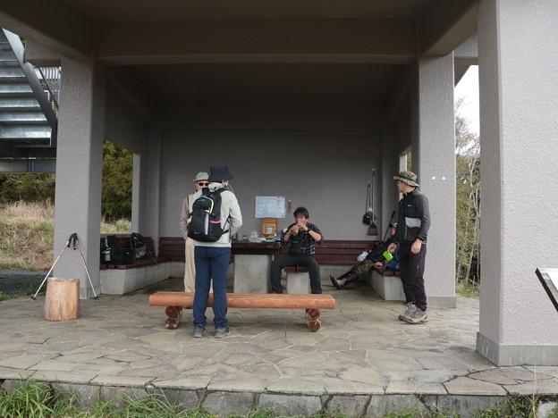 富幕山幕今朝の休憩舎