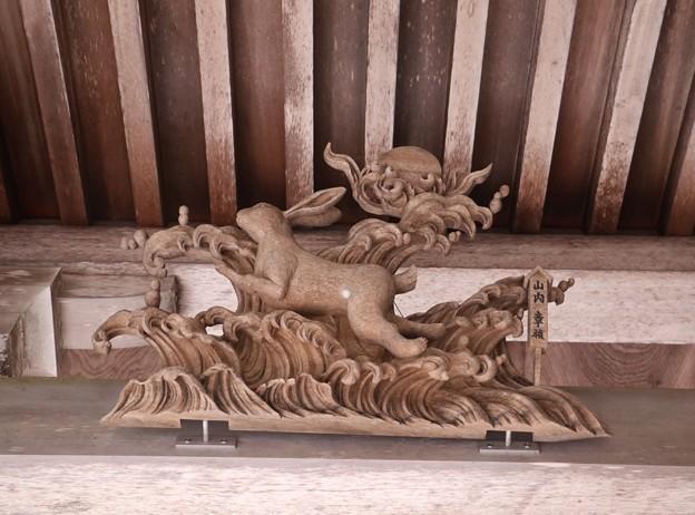 秋葉神社本殿の(干支えと) 「卯、うさぎ」