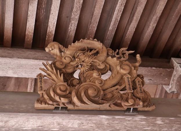 秋葉神社本殿の(干支えと)「辰、たつ」