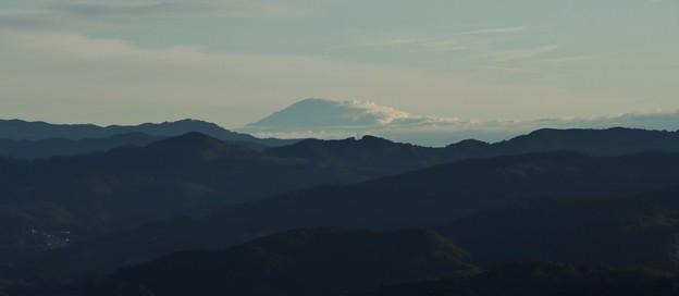 富幕山らくらくコースから今朝の富士山