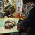 森林公園で販売中旧山友のコンニャクを三島から来たお客さんが沢山買ってくれました。