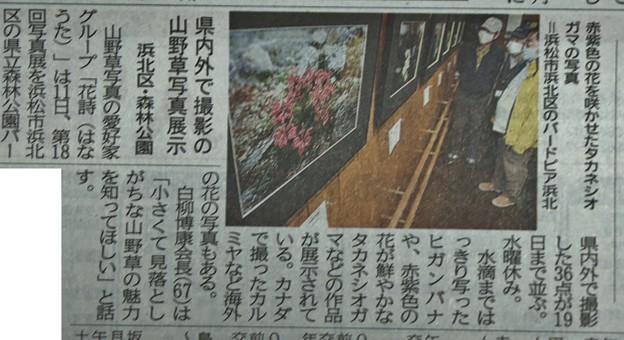 森林公園バードピアで写真展今朝の地元新聞に・・