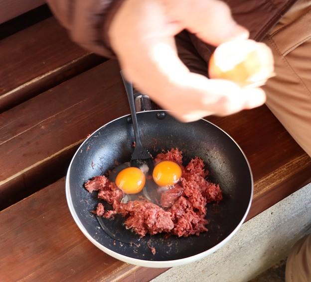 Hさん朝食ビーフンに卵