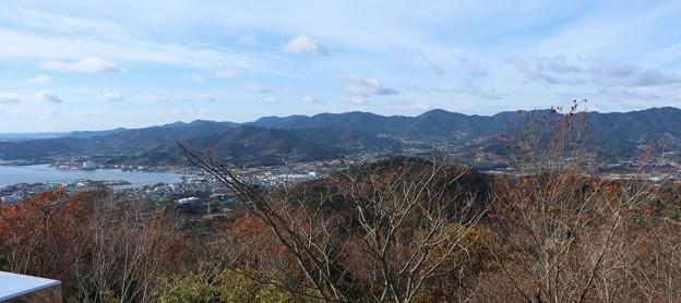 高山ふれあいの森から三ヶ日と湖西連峰方面