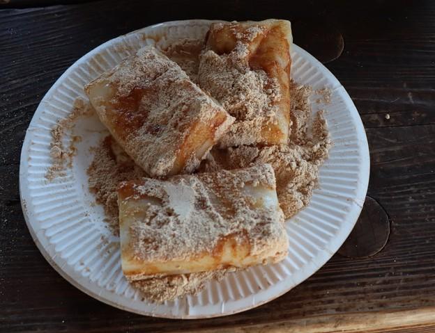 今朝の朝食安倍川餅