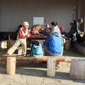 Photos: 今朝の山頂休憩舎