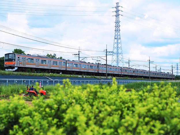 鉄塔と電車(2)