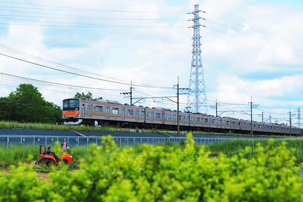 鉄塔と電車