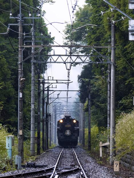 汽車は煙を噴きたてて~♪
