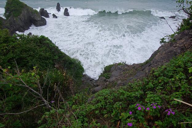 荒れる五色の浜