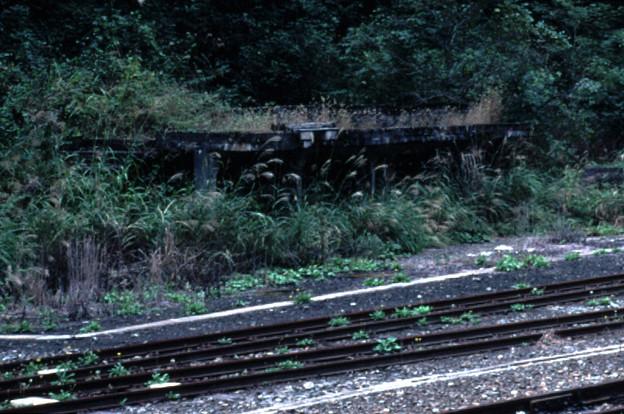 給炭台跡(JR芸備線・木次線備後落合駅,1998/9/21)(s103/26a)