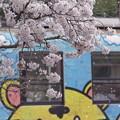 写真: 桜吹雪とアニマルトレイン #ひたちなか海浜鉄道 #湊線 日工前 2014/04/10