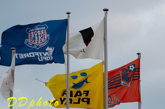 写真: 9月19日大宮戦 旗