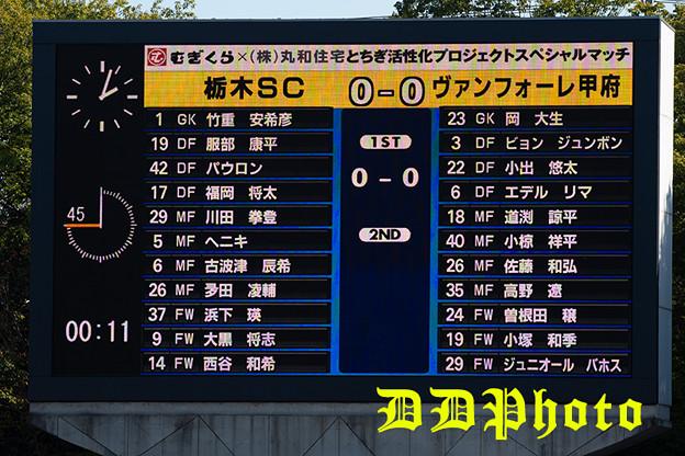 10月21日アウェイ栃木SC戦