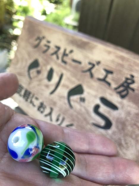トンボ玉体験行って北鎌倉
