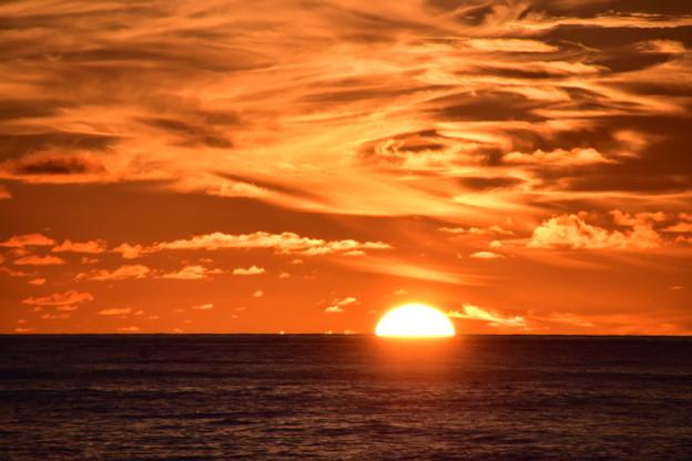 洋上の朝陽 2018.8.26