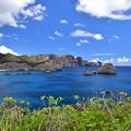 写真: 南島より父島を望む