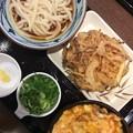 丸亀製麺柳井店ぶっかけうどん冷や冷やカツ丼定食