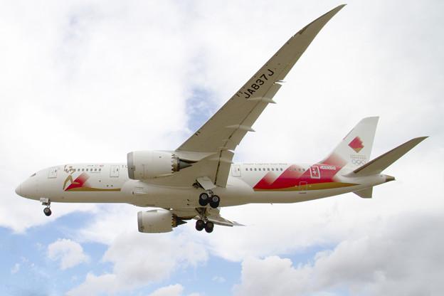 聖火特別輸送機「TOKYO 2020号」