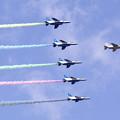 Photos: ブルーインパルス 聖火到着式展示飛行