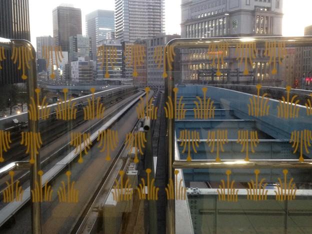 No.325 U02 ゆりかもめ 汐留駅 葦文様 Yurikamome Shiodome Station~Ashi Mon-yō~