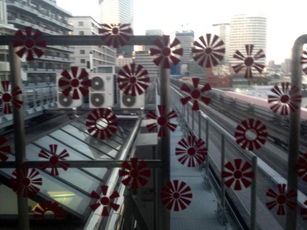No.327 U04 ゆりかもめ 日の出駅 日足散らし文様 Yurikamome Hinode Station~Hiashi-Chirashi Mon-yō~