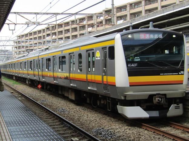 No.353 JR東日本南武線 E233系8000番台 横ナハN4編成 クハE233-8004 宿河原駅通過 その1