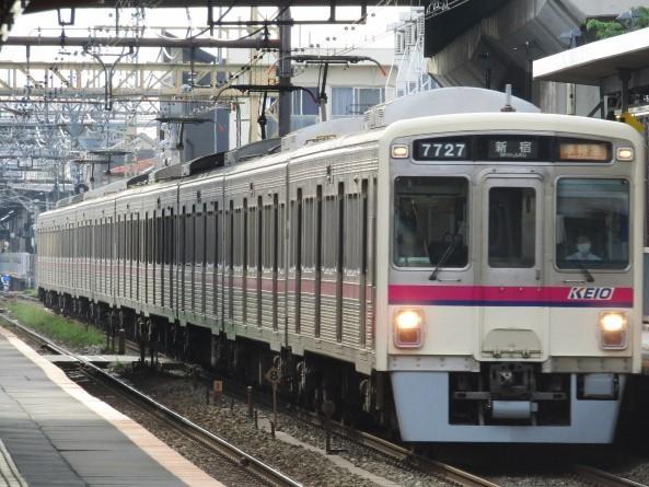 No.381 京王電鉄7000系7727編成 準特急新宿行き@2020.06.05西調布駅