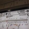 No.602 H17 東京メトロ 日比谷線 上野駅 駅名標 1番線 Tōkyō Metro Hibiya Line Ueno Station