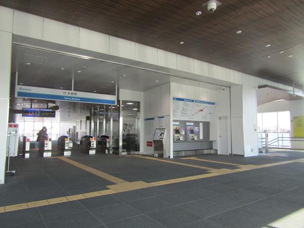 No.748 SW03 西武鉄道 多摩川線 多磨駅 橋上駅舎供用開始後の改札(2021.1)Seibu Railway Tamagawa Line Tama Station