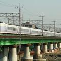 Photos: 鉄橋を渡るE351系