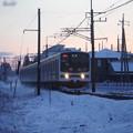 Photos: ブレブレの雪の日光線