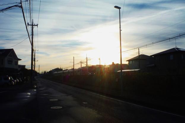 今朝の日光線