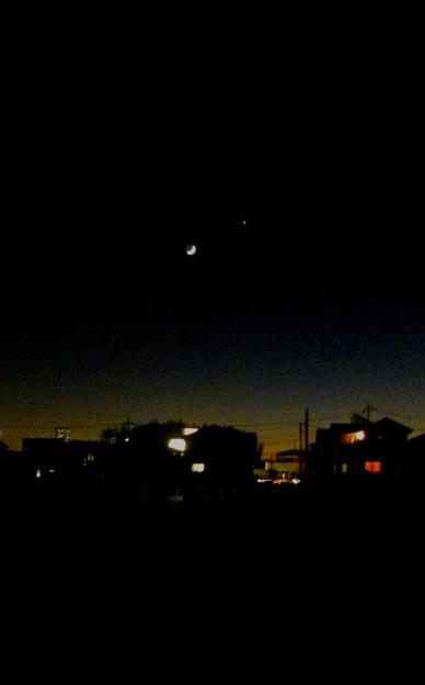 Photos: 月と木星と(土星)