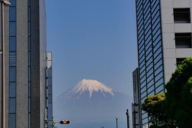 都会から見える富士山