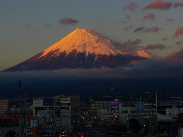 ある日の夕富士