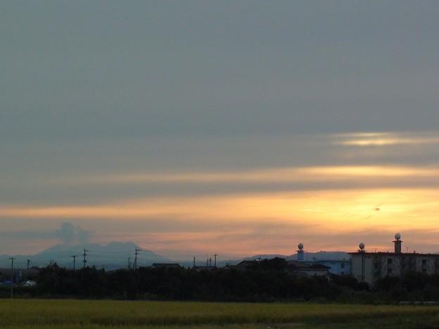 夕焼け&桜島