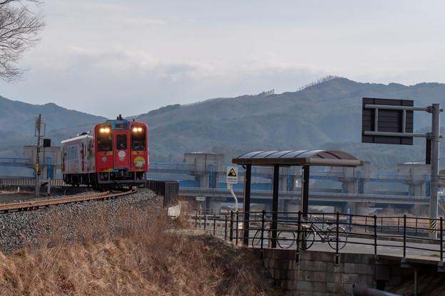 三陸鉄道 津軽石駅付近