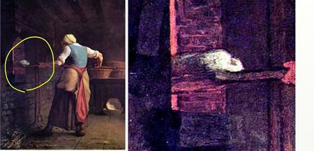 ミレーパンを焼く農婦