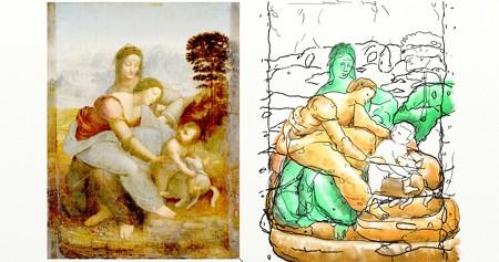 ダヴィンチ聖アンナと聖母子2