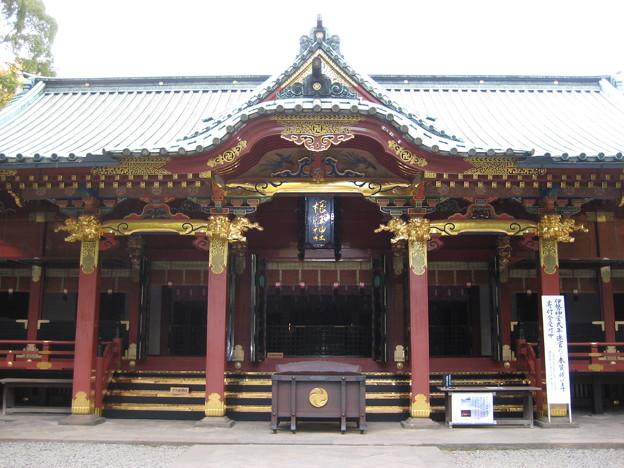 根津神社(文京区根津)拝殿