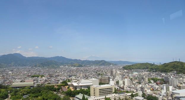 駿府城(静岡県庁別館21F展望ロビー)富士山