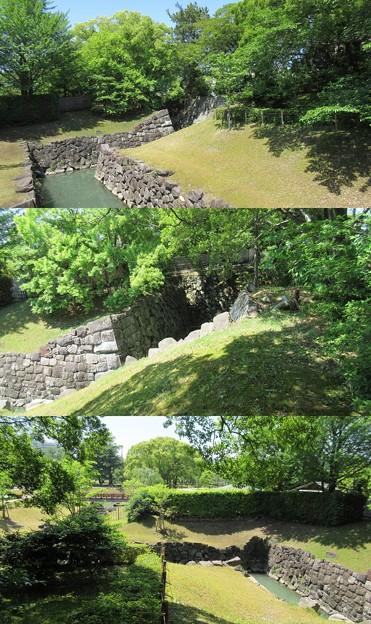駿府城(葵区。静岡市営 駿府城公園)二の丸水路
