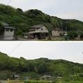 写真: 朝比奈城(藤枝市)北西より